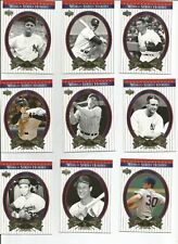 PICK 5 - 2002 Upper Deck World Series Heroes baseball cards singles team set MLB