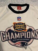 Reebok NEW ENGLAND PATRIOTS Super Bowl XXXVIII Men's T-Shirt L - NEW
