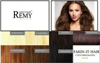 """InstaGlam One Piece Clip in Remy Human Hair Extensions 20"""" Long High Quality!"""