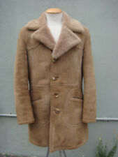 Men's Genuine Authentic Sheepskin Shearling Coat - Size 38
