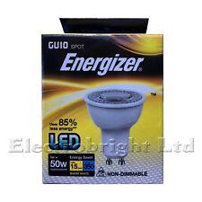 "12 X ENERGIZER LED GU10 5W=50W BULBS. WARM WHITE ""A""  NON DIMMABLE ENERGY SAVING"