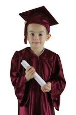 Childrens Graduation Cap and Gown SHINY- age 3-5  - Various Colours