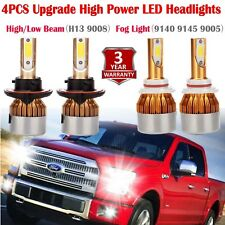 H13 9008 LED Headlight+9145 9140 Fog Lights Combo Pack for 2004-2014 Ford F-150