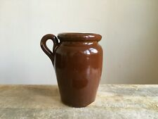 More details for antique small brown stoneware cream pot jug barn salvage yorkshire dales