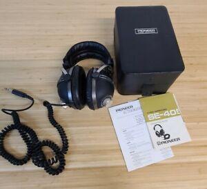 Vintage Pioneer SE-405 Stereo Headphones with Dual Volume Controls