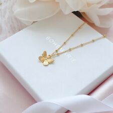 Gold Plated Butterfly Necklace, Dainty Boho Necklaces, Necklaces For Women