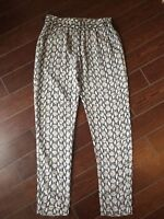 NWT NEW- Blaque Label Snake Pants, Size S Sheer light weight Gray/ Black