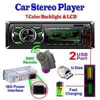 1Din Bluetooth Car FM Radio MP3 Music Player Stereo USB AUX Classic Stereo Audio
