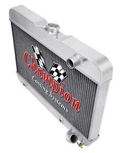 1963-1970 Buick All Aluminum 3 Row KR Champion Radiator Fan Combo