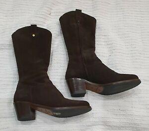 Fairfax & Favor Rockingham mid calf boots. Chocolate. Size 36 / 3