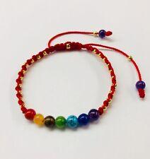 Handmade 7 CHACKRAS gemstone Energy Bracelet 7 puntos de energias pulsera