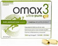 Omax3 Ultra-Pure Omega-3 Supplement 60 Softgels Supplement
