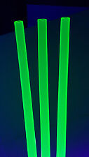 "1"" OD X 3/4"" ID CLEAR GREEN ACRYLIC PLEXIGLASS FLUORESCENT TUBE DIAMETER 12 INCH"