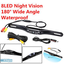180°Car License Plate Rear View Backup Reverse Parking Camera 8 IR LED Universal