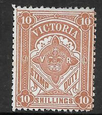 Victoria STAMP DUTY 10 Shilling umgestempelter