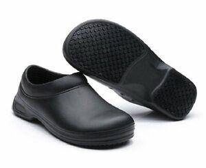 Men's Restaurant Oil Resistant Kitchen Work Shoes Slip-On Skid Non-Slip