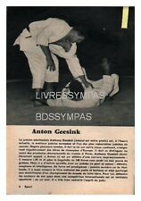 1961 DOCUMENT (ref POT 160) SPORT  : JUDO ANTON GEESINK  1p