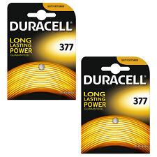 2 x Duracell 377 1.5v Silver Oxide Watch Battery Batteries SR626SW AG4 626 D377