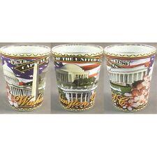 WASHINGTON DC  COLLAGE SHOT GLASS NEW MADE OF GLASS 28022