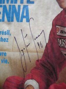 très très RARE signature autographe AYRTON SENNA sur l'Equipe magazine de 1990