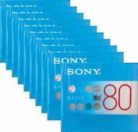 10 pcs Sony MD Basic Blank Minidisc 80 Min. Recordable MDW80BC