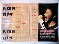 COUPURE DE PRESSE-CLIPPING : NOIR DESIR [4pages] 2001 Des visages, des figures