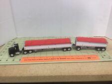 1/64 black FORD semi & custom Wilson grain trailer & pup FREE shipping!