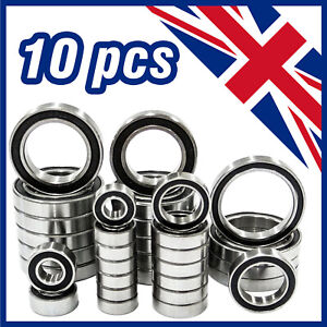HIGH QUALITY 6200 - 6209 2RS RUBBER SEALED BALL BEARINGS - PACK OF 10