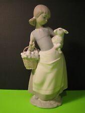 Lladro Girl With Lamb Figurine 4835 Matte Finish