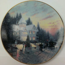 Thomas Kinkade Plates ~ The Magic of Christmas Collector Le Yuletide Memories #1
