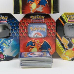 100 verschiedene Pokemon Karten mit GX/V/VMAX/EX Karte in TIN BOX NM/M DE/ENG