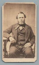 STATELY MAN, VICTORIAN CDV PHOTO