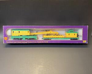 Vintage IHC Premier Series Reading M3560 Model Railroad HO Crane Car Set w Box