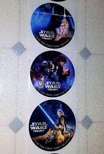 Vintage unused STAR WARS Empire Jedi round STICKERS DVD release Promotional 2004