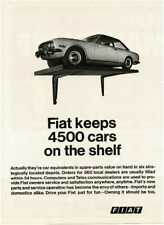 1970 FIAT 124 Sport Coupe on shelf Vintage Print Ad