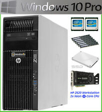 HP Z620 Workstation CAD PC 2x Xeon E5-2670 RAM 64GB SSD 256GB Quadro K4000 Win10