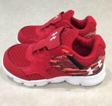 "UNDER ARMOUR ""Thrill RN AC"" Toddler Red/Multi Sneakers~~Size 5K"