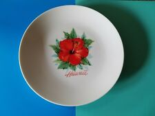 Vintage Souvenir Plate Hawaii Flower