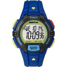 Timex Ironman Men's Rugged 30 Blue Pink Indiglo Digital Watch TW5M02400