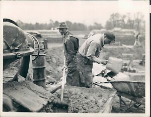 1945 Photo Pipe Smoking Farmer Nick Trovsmo with Vincent Ortuso Working