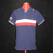 Womens Navy Blue Ralph Lauren Polo 2006 US Tennis Open Short Sleeve Medium