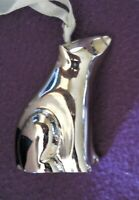 "Chrome Polar Bear Ornament Silver Color 2.5"" Paperweight Collectible"