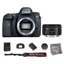 Canon EOS 6D Mark II DSLR Camera Body + EF 50mm f/1.8 STM Lens