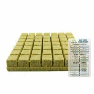 "Grodan 1.5"" AO Rockwool Starter Plugs, Sheet of 49 Cubes - Grow Media"