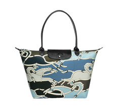 Authentic Longchamp Le Pliage Galop 2018 Tote Bag Pilot Blue- Large