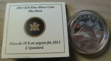 2013 Proof $10 O Canada - Orca (Killer Whale) .9999 silver COIN & COA ONLY