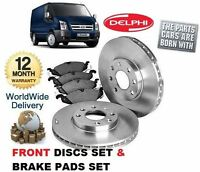 FOR FORD TRANSIT ALL MODELS 2006> FRONT DELPHI BRAKE DISCS SET + DISC PADS KIT