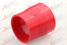 "3Ply 2.5"" To 2'' inch Straight Reducer 76.2mm Silicone Hose Coupler Pipe Red"