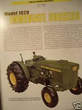 John Deere Model 1020 Tractor Green magazine JD