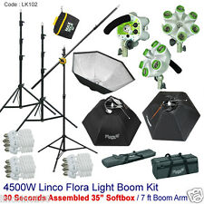 4500W Linco Studio Photo Soft Box Video Lighting Light Boom Stand Kit Lk102